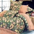 [Garden Serenade] 100% Cotton 5PC Comforter Set (Full Size)