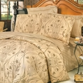 [Love of Coffee] 100% Cotton 5PC Comforter Set (Full Size)