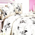 [Spring Rose] 100% Cotton 4PC Comforter Set (Twin Size)