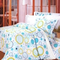 [Baby Blue] 100% Cotton 5PC Comforter Set (Full Size)