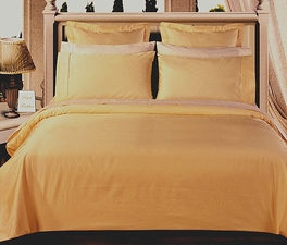 California-King 8PC Solid Gold 550TC Egyptian cotton bed in a Bag