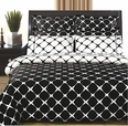 Black & White 8PC Bloomingdale Duvet covers and sheet set(Calking Size)