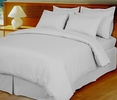 White Damask Stripe Down Alternative 4-pc Comforter Set, 100% Egyptian cotton , 600 Thread count(Full/Queen)