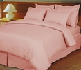 Pink/Blush Damask Stripe Down Alternative 4-PC comforter set, 100% Egyptian cotton, 600 Thread count(Full/Queen)