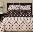 Blush & Chocolate 8PC Bloomingdale Duvet covers and sheet set(Calking Size)