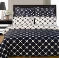 Navy Blue and White 8PC Bloomingdale Duvet covers and sheet set(King Size)