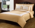 Full/Queen Gold/Ivory Hotel 5-PC Duvet cover set
