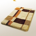 [Checker] Wool Throw Rugs (17.7 by 25.6 inches)