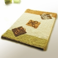 [Beige Leaf] Luxury Home Rugs (19.7 by 31.5 inches)