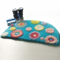 [Blue Polka Dots] Kids Room Rugs (15.7 by 24.8 inches)