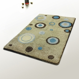[Blue Polka Dots] Modern Area Rugs (39.4 by 59.1 inches)