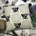 [Sun flower] Decorative Pillow Cushion / Floor Cushion (23.6 by 23.6 inches)