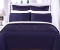 """Navy Olympic Queen Solid Bed in A Bag 90x92"""" Egyptian cotton With Down Alternative Comforter"""