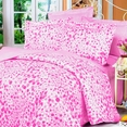 [Pink Bubbles] 100% Cotton 4PC Duvet Cover Set (King Size)