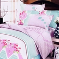 [Crystal Cherry] 100% Cotton 4PC Duvet Cover Set (Queen Size)