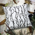 [Black Branch] Decorative Pillow Cushion / Floor Cushion (23.6 by 23.6 inches)