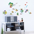 Cartoon Fish-1 - Wall Decals Stickers Appliques Home Decor