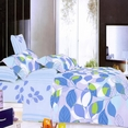 [Leafy Shade] 100% Cotton 4PC Duvet Cover set (Full Size)