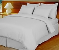 White Damask Stripe Down Alternative 4-pc Comforter Set, 100% Egyptian cotton , 600 Thread count(King/Calking)