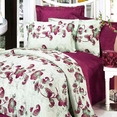 [China Red] 100% Cotton 4PC Duvet Cover Set (Queen Size)