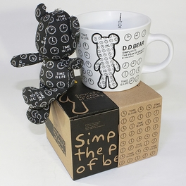 [Black Clock] Stuffed Bear Mug (3.3 inch height)