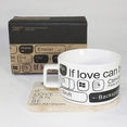 [If Love Can Be] Espresso Cup / Wood Coaster (2.5 inch height)