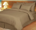 Taupe Damask Stripe Down Alternative 4-pc comforter Set, 100% Egyptian cotton , 600 Thread count(King/Calking)