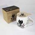 [Kitty Bike] Coffee Mug / Wood Lid (4.2 inch height)