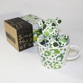 [Bubble Green] Stuffed Bear Mug (3.3 inch height)