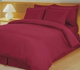 Burgundy Damask Stripe Down Alternative 4-pc Comforter Set, Egyptian 600 count(Full/Queen)