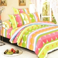 [Colorful Days] 100% Cotton 4PC Duvet Cover set (Queen Size)