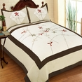 [Clover Sky] Hand-Appliqued Quilt Set (Full/Queen Size)