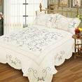 [Chained Love] Hand-Appliqued Quilt Set (Full/Queen Size)