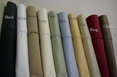 King Pillow cases Pair 550 Thread count Solid Egyptian cotton