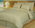 Beige/Tan Damask Stripe Down Alternative 4-pc Comforter Set, Egyptian 600 count(Full/Queen)