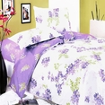 [Blooming Wisteria] 100% Cotton 4PC Comforter Set (Twin Size)