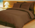 Chocolate Brown Damask Stripe Down Alternative 4-pc Comforter Set, Egyptian 600 count(Full/Queen)