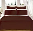 "Chocolate Olympic Queen Solid Bed in A Bag 90x92"" Egyptian cotton With Down Alternative Comforter"