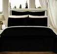 "Black Olympic Queen Solid Bed in A Bag 90x92"" Egyptian cotton With Down Alternative Comforter"