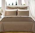 "Taupe Olympic Queen Solid Bed in A Bag 90x92"" Egyptian cotton With Down Alternative Comforter"