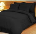 Stripe Black Down Alternative Bed in A Bag Egyptian cotton 600 Thread count(Full Size)
