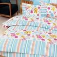 [Blooming Flowers] 100% Cotton 5PC Comforter Set (King Size)