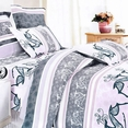 [Purple Deer Totem] 100% Cotton 4PC Comforter Set (Twin Size)