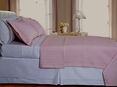 Blush/Pink Checkered Coverlet Set Egyptian cotton 400 Thread count Reversable(King/Calking)
