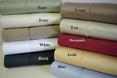 Olympic Queen 550 Thread count Solid Egyptian cotton sheet set