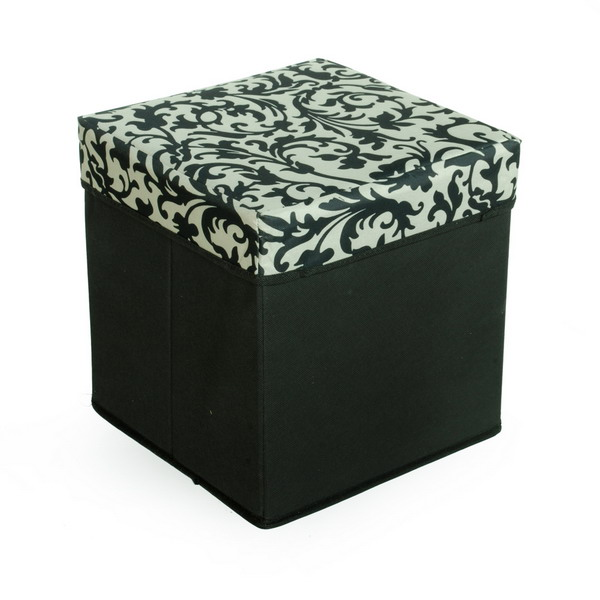 Superb Floral Print Square Foldable Storage Ottoman Storage Alphanode Cool Chair Designs And Ideas Alphanodeonline