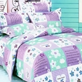[Purple Countryside] 100% Cotton 4PC Duvet Cover Set (Full Size)