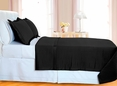 Black Checkered Coverlet Set 3PC Egyptian cotton 400 Thread count(Twin Size)