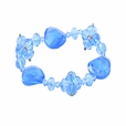 Round Turqydise Crystals Sky Blue Faceted Crystals Bracelet Stretchable Stylish