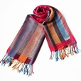 Pa-301-2 Exquisite Stripes Nation totem Revitalized Style Tassel Ends Silk Pashmina/Shawl/Scarf